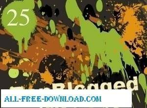25 Free Vector Drips Drops and Splatters