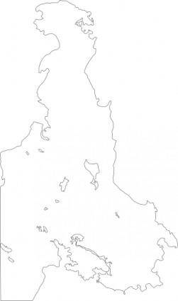 free vector Outline Map Of Victoria Bc Canada Saanich Peninsula clip art