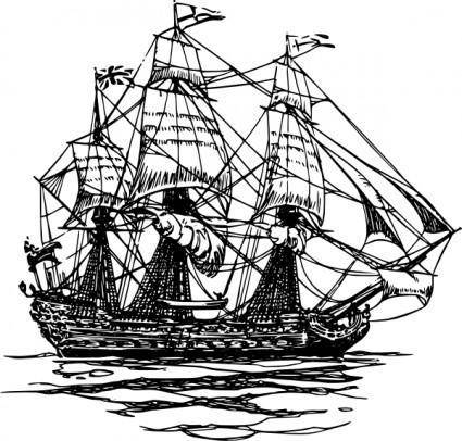 Ship Of The Line clip art