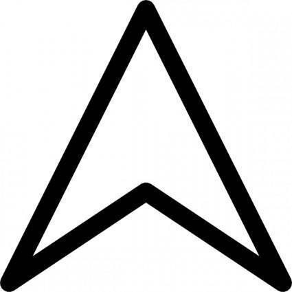 Plain Up Arrow Head clip art