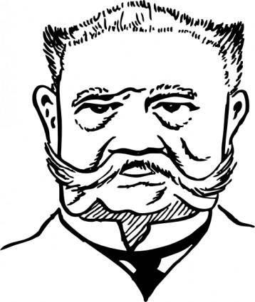 free vector Paul Von Hindenburg clip art