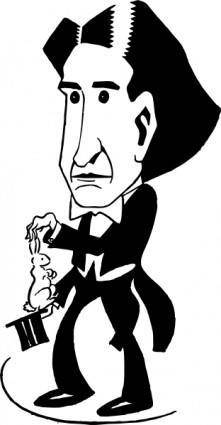 Magician Howard Thurston clip art