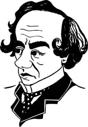 Benjamin Disraeli clip art