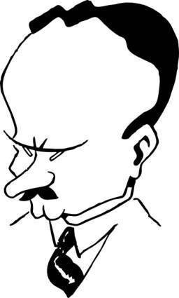 free vector Mr Coffin clip art