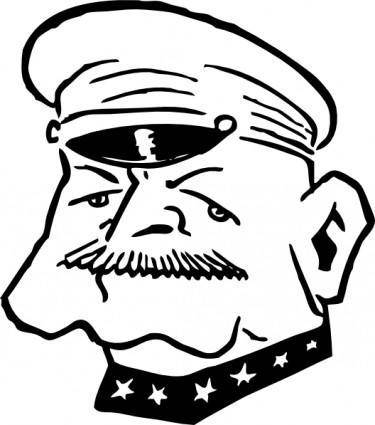 Military Man clip art