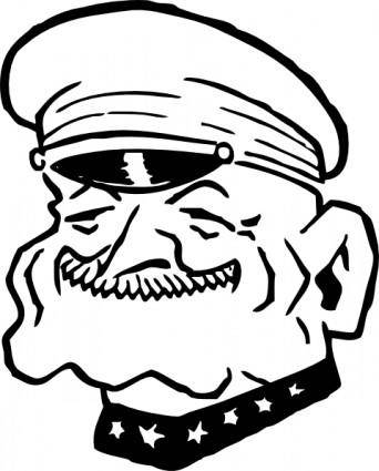 Military Man Smiling clip art