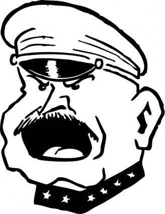 Military Man Yelling clip art