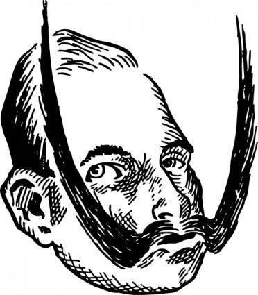 free vector A Young Kaiser Wilhelm clip art