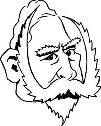 free vector Cartoony Kaiser Wilhelm clip art