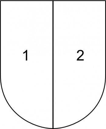 Partitioned Shield clip art