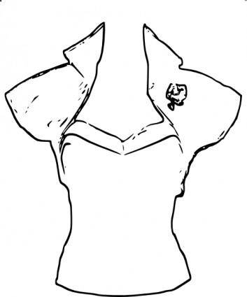 Vintage Blouse clip art