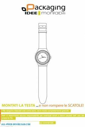 free vector Watch template