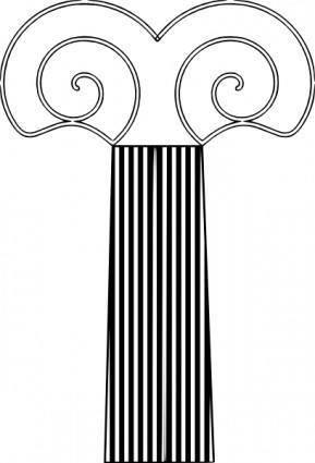 free vector Decorative Pillar clip art