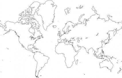 free vector World Map clip art