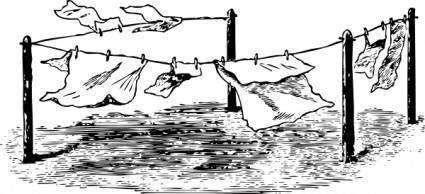 free vector Clothes Line clip art