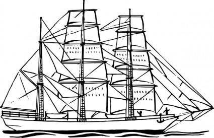 Bark Ship clip art