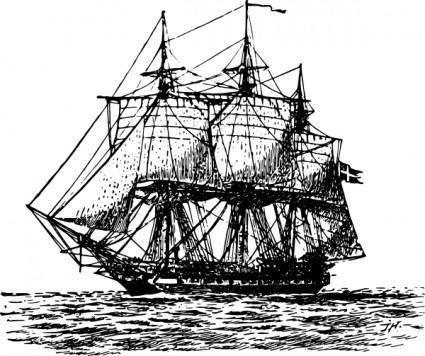 Frigate Ship clip art