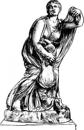 Niobe Statue clip art