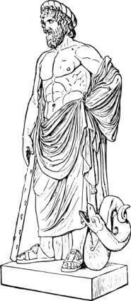 Asklepios Statue clip art
