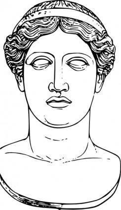 Hera Head clip art