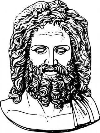Zeus Head clip art