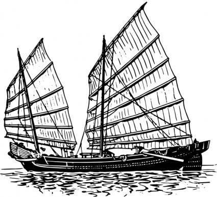 free vector Junk Ship clip art