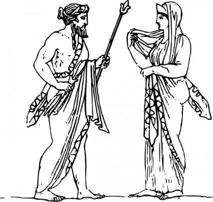 free vector Zeus And Hera clip art