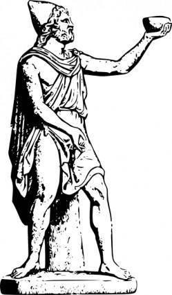 Odysseus Statue clip art