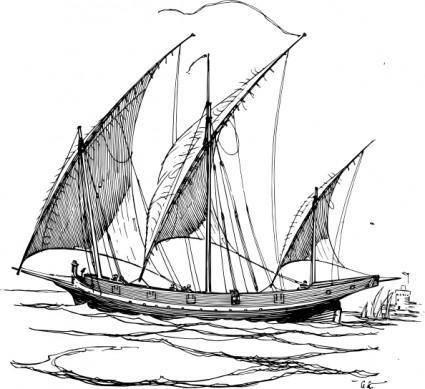 free vector Lateen Sails clip art