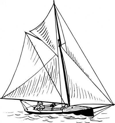 free vector Sloop Ship clip art