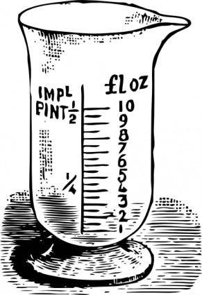 Measuring Glass clip art