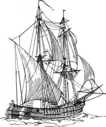 free vector Bilander Ship clip art