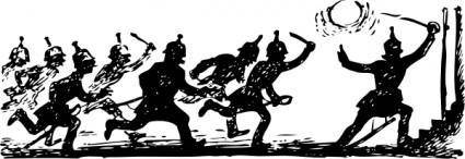 Soldiers In Battle clip art