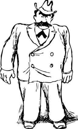 Big Man In A Suit clip art