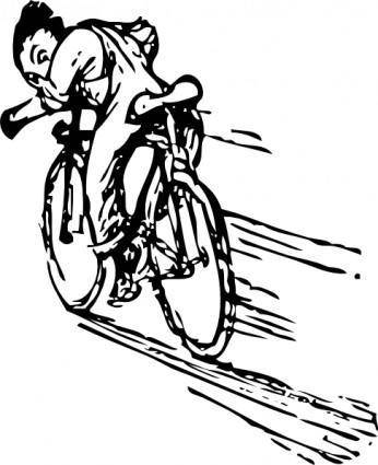 Riding A Bike clip art