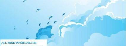 free vector Blue Sky Vector
