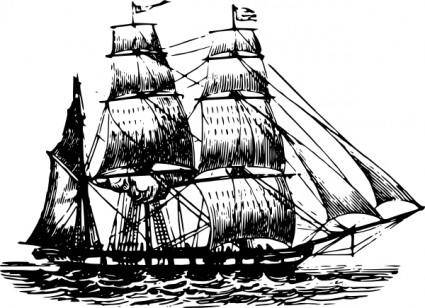 free vector Bark Ship clip art