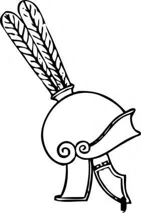 free vector Greek Helmet clip art