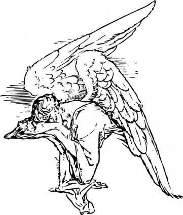 Grieving Angel Tattoo clip art