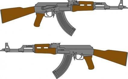 free vector Ak Rifle Vector Drawing clip art