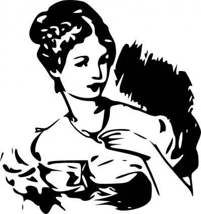 free vector Lady Clipart clip art