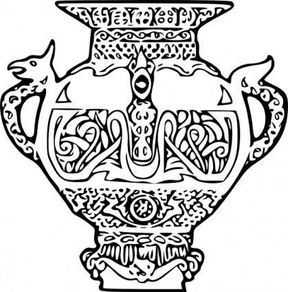 free vector Viking Vase clip art