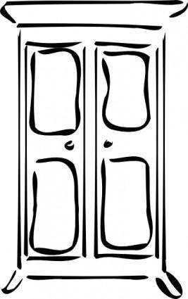 free vector Cupboard clip art