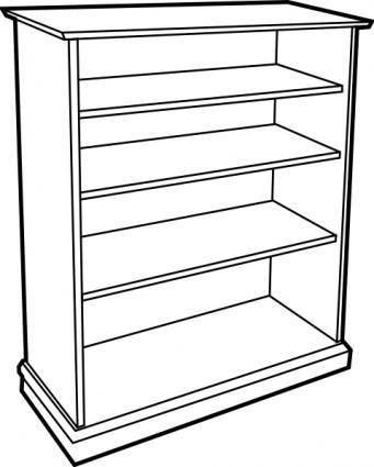 Wooden Bookcase clip art