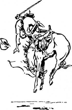free vector Bucking Horse clip art
