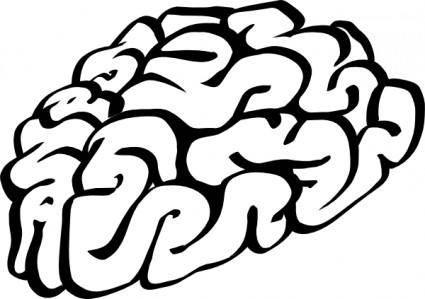 Cartoon Brain Outline clip art