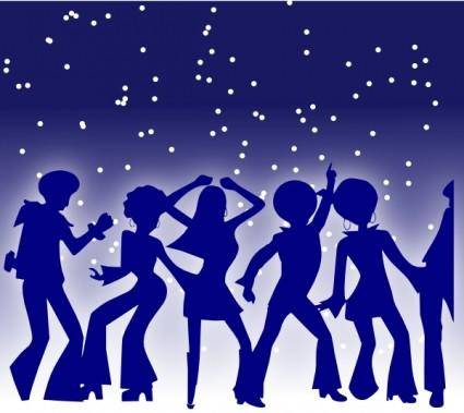 free vector Disco Dancers clip art
