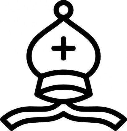 free vector Chess Bishop White Piece clip art