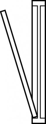 free vector Door Top View Outline clip art