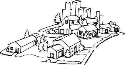 free vector Neighborhood clip art